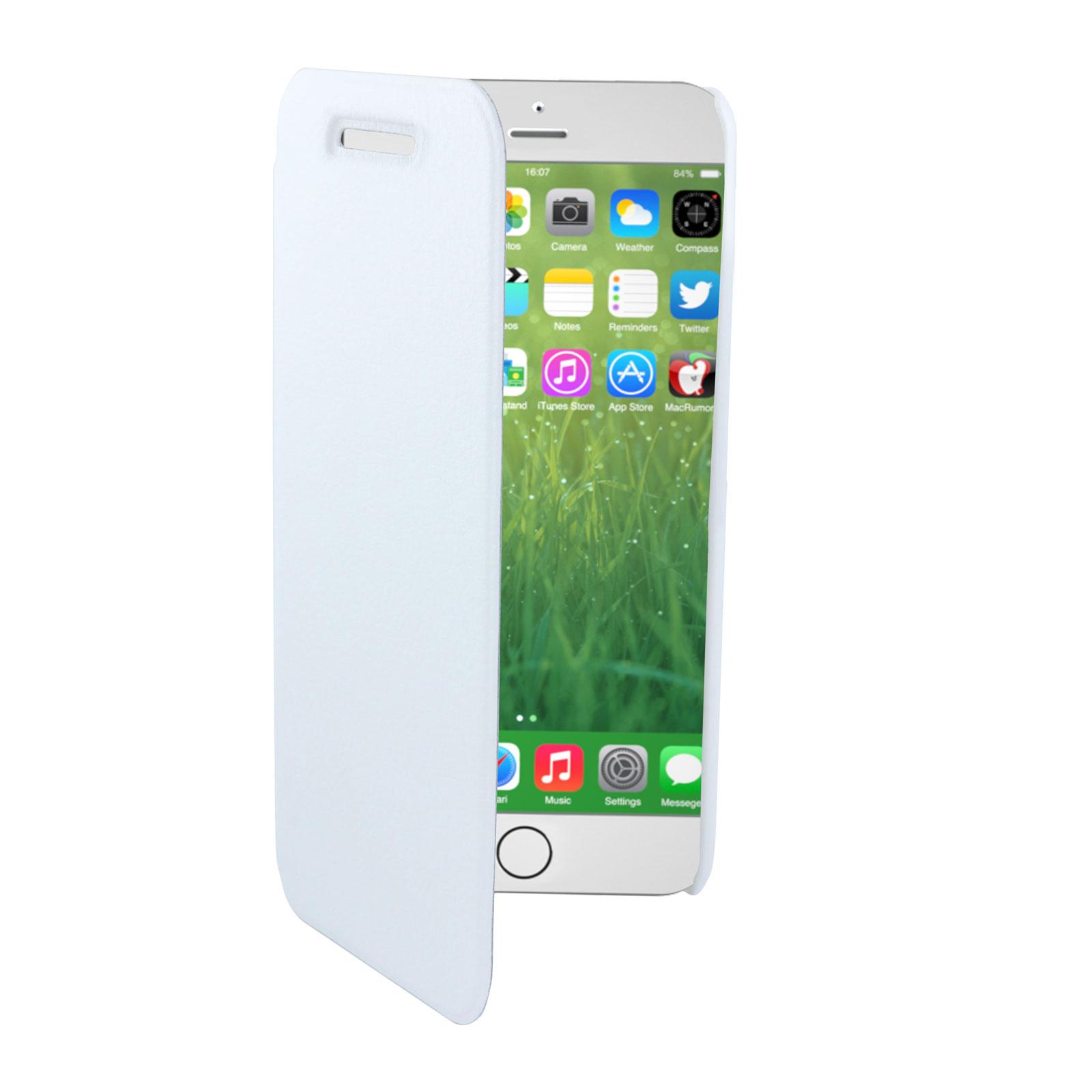 swiss charger etui folio blanc apple iphone 6 plus. Black Bedroom Furniture Sets. Home Design Ideas