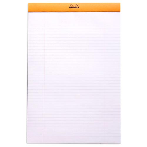 Rhodia bloc n 19 orange agraf en t te 21 x 31 8 cm lign - Telecharger un bloc note pour le bureau ...