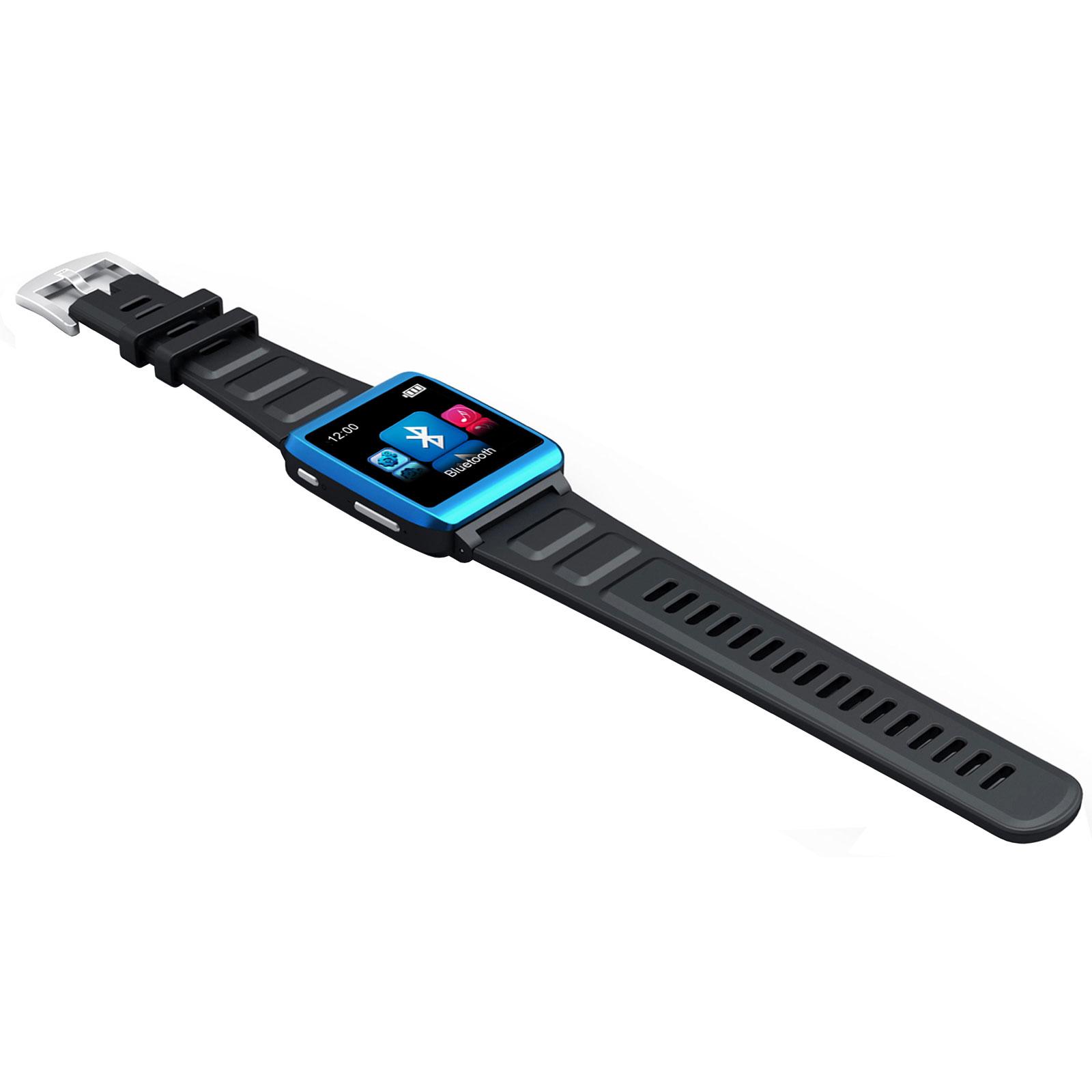 """Lecteur MP3 & iPod MPMAN Watch Me 4 Go Bleu Montre lecteur MP3 Bluetooth avec écran 1.5"""""""