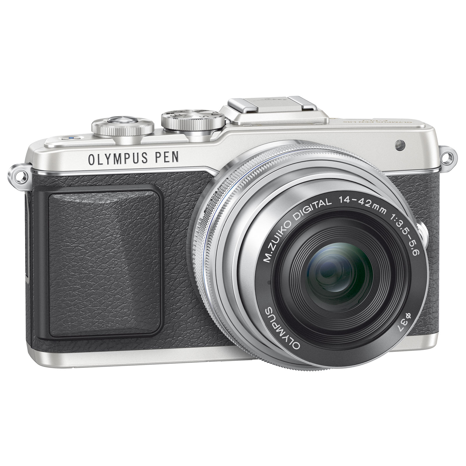 "Appareil photo hybride Olympus E-PL7 Argent + Objectif M.ZUIKO DIGITAL ED 14-42mm 1:3.5-5.6 EZ Pancake Argent Appareil photo hybride 16.1 MP - Ecran LCD tactile orientable 3"" - Vidéo Full HD - Wi-Fi"