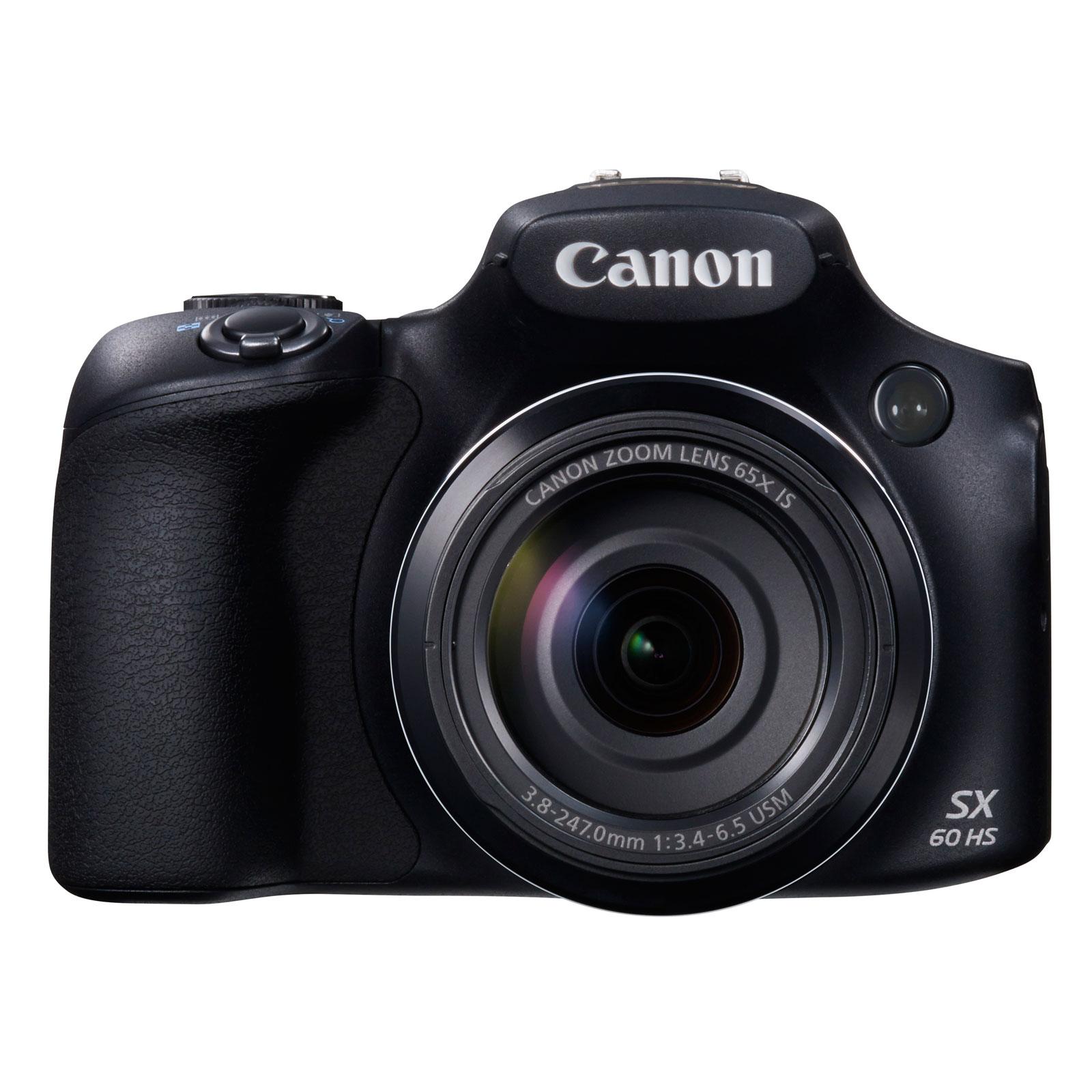 Appareil photo numérique Canon PowerShot SX60 HS  Appareil photo 16.1 MP - Zoom optique ultra grand-angle 65x - Vidéo Full HD - Wi-Fi - NFC