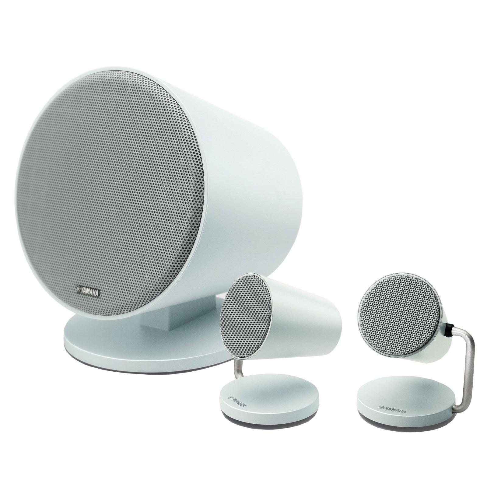 Dock & Enceinte Bluetooth Yamaha NX-B150 Blanc Système audio 2.1 sans fil Bluetooth avec caisson de basses
