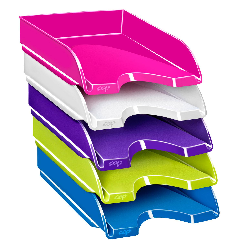 Cep gloss corbeille courrier bleu oc an 1002000351 - Comment mettre la corbeille sur le bureau ...
