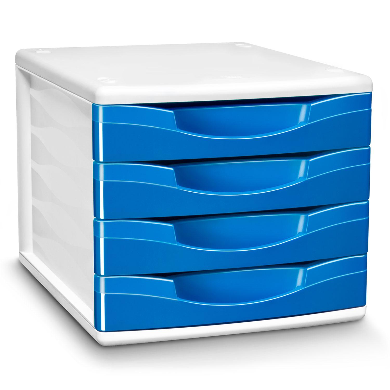 cep module de classement 4 tiroirs gloss bleu oc an 894g module de classement cep sur ldlc. Black Bedroom Furniture Sets. Home Design Ideas