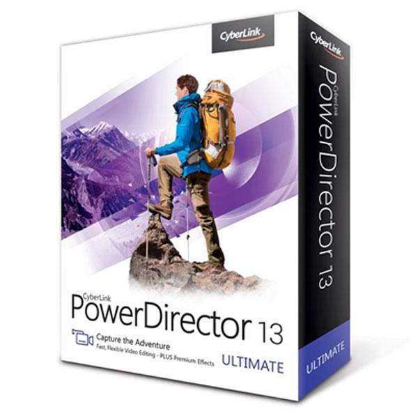 Logiciel composition vidéo Cyberlink Powerdirector 13 Ultimate Logiciel de retouche et d'édition vidéo (français, WINDOWS)