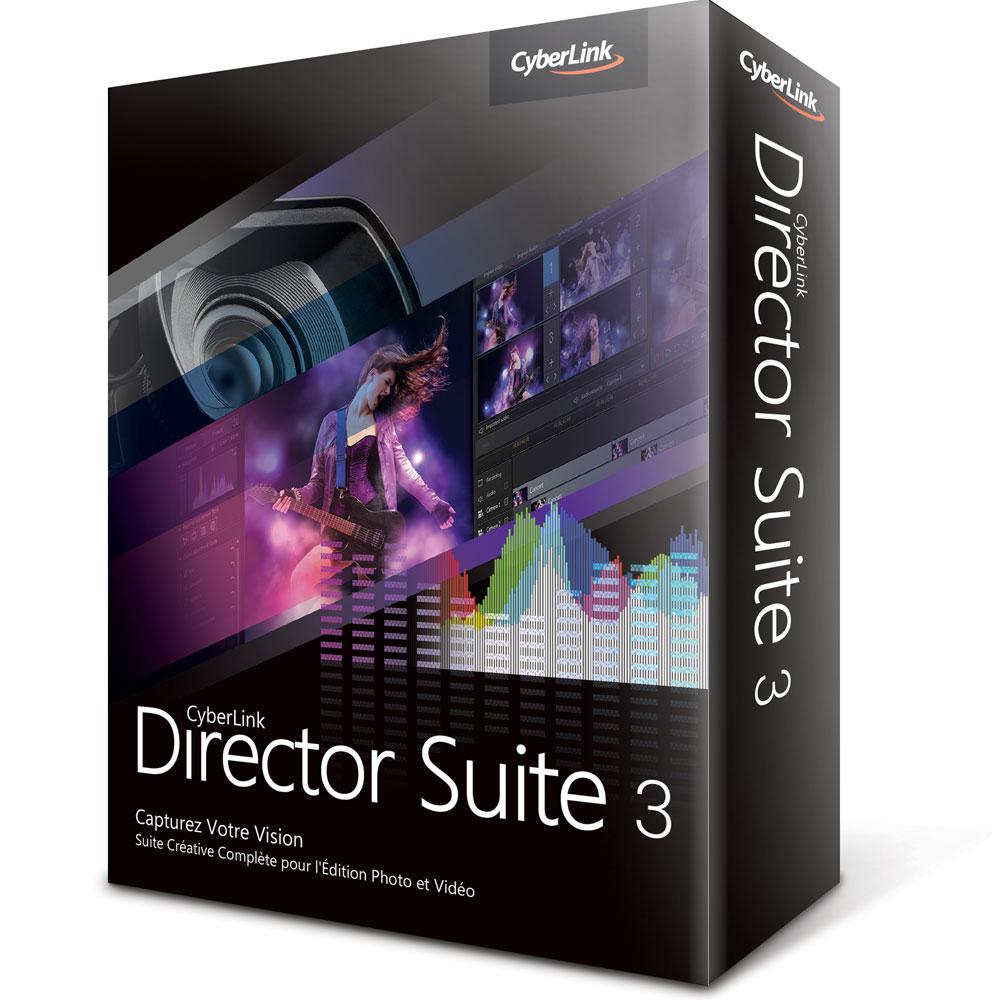 Logiciel graphisme & Photo Cyberlink Director Suite 3 Logiciel de retouche photo et d'édition vidéo (français, WINDOWS)