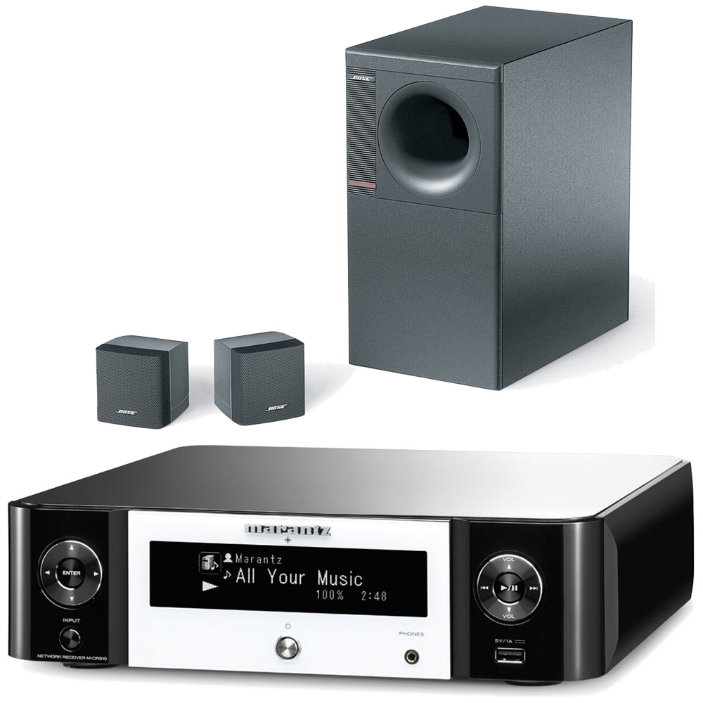 marantz mcr 510 noir et blanc bose acoustimass 3 s rie. Black Bedroom Furniture Sets. Home Design Ideas