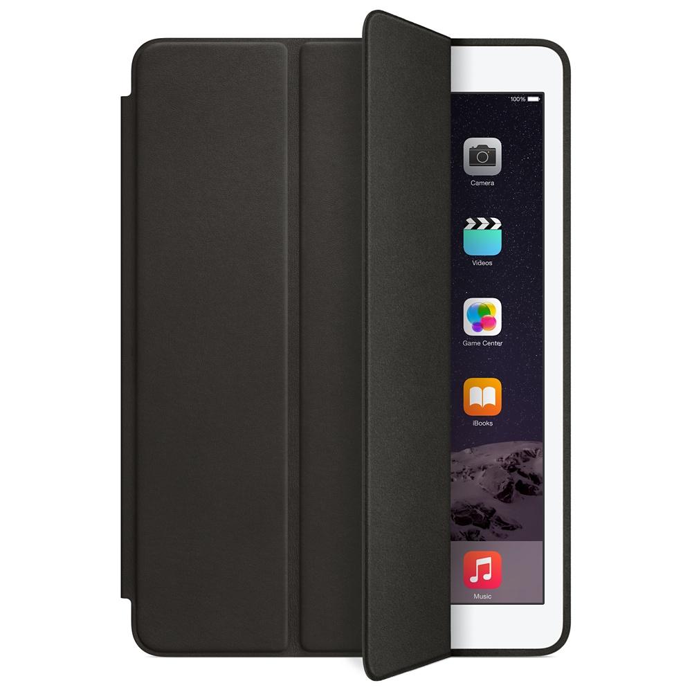 Accessoires Tablette Apple iPad Air 2 Smart Case Noir Protection d'écran en cuir pour iPad Air 2