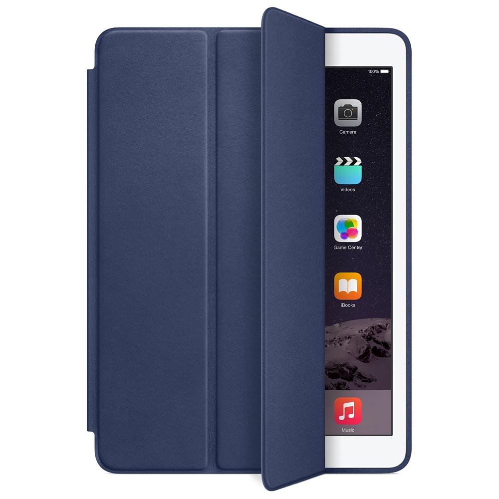 Accessoires Tablette Apple iPad Air 2 Smart Case Bleu Nuit Protection d'écran en cuir pour iPad Air 2