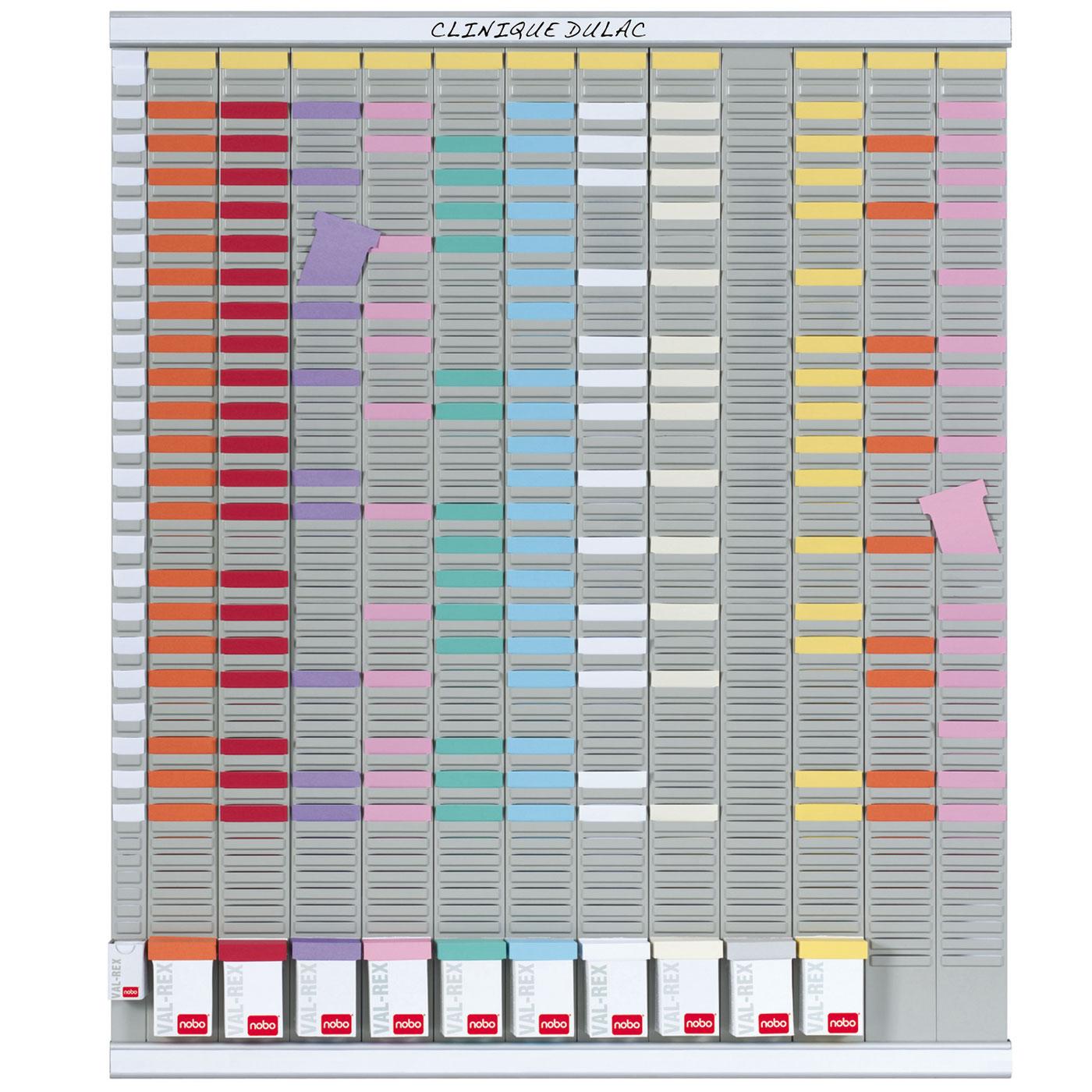 nobo kit planning annuel 13 colonnes 54 fentes planning nobo sur ldlc. Black Bedroom Furniture Sets. Home Design Ideas