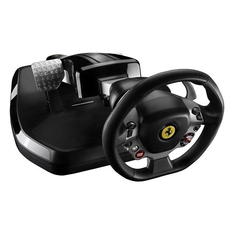 Volant PC Thrustmaster Vibration GT Cockpit 458 Italia Edition Ensemble de pilotage avec volant et pédalier pliables et fonction vibration (compatible PC et Xbox 360)