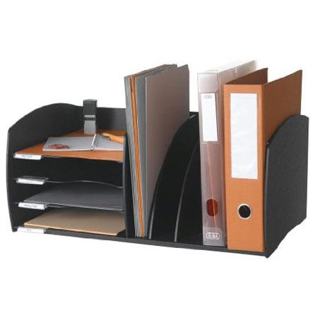 paperflow organiseur de bureau 4 cases noir. Black Bedroom Furniture Sets. Home Design Ideas