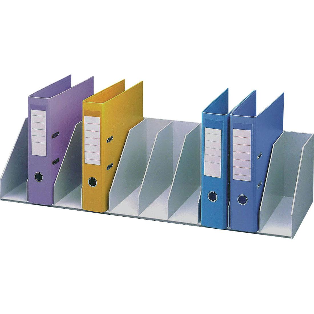 Paperflow trieur pour tag re 10 cases fixes gris module - Gros classeur de rangement ...