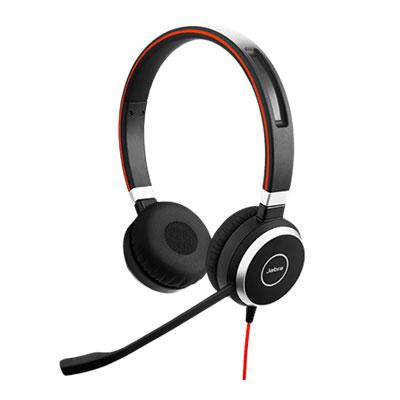 Micro-casque Jabra Evolve 40 MS Stéréo Micro-casque filaire stéréo optimisé Lync pour softphones VoIP, mobiles et tablettes
