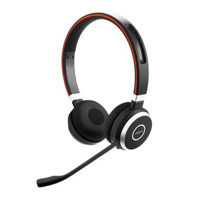 Micro-casque Jabra Evolve 65 MS Stéréo Micro-casque sans fil Bluetooth stéréo optimisé Lync équipé d'un adaptateur Jabra Link 360 USB pour softphones VoIP, mobiles et tablettes
