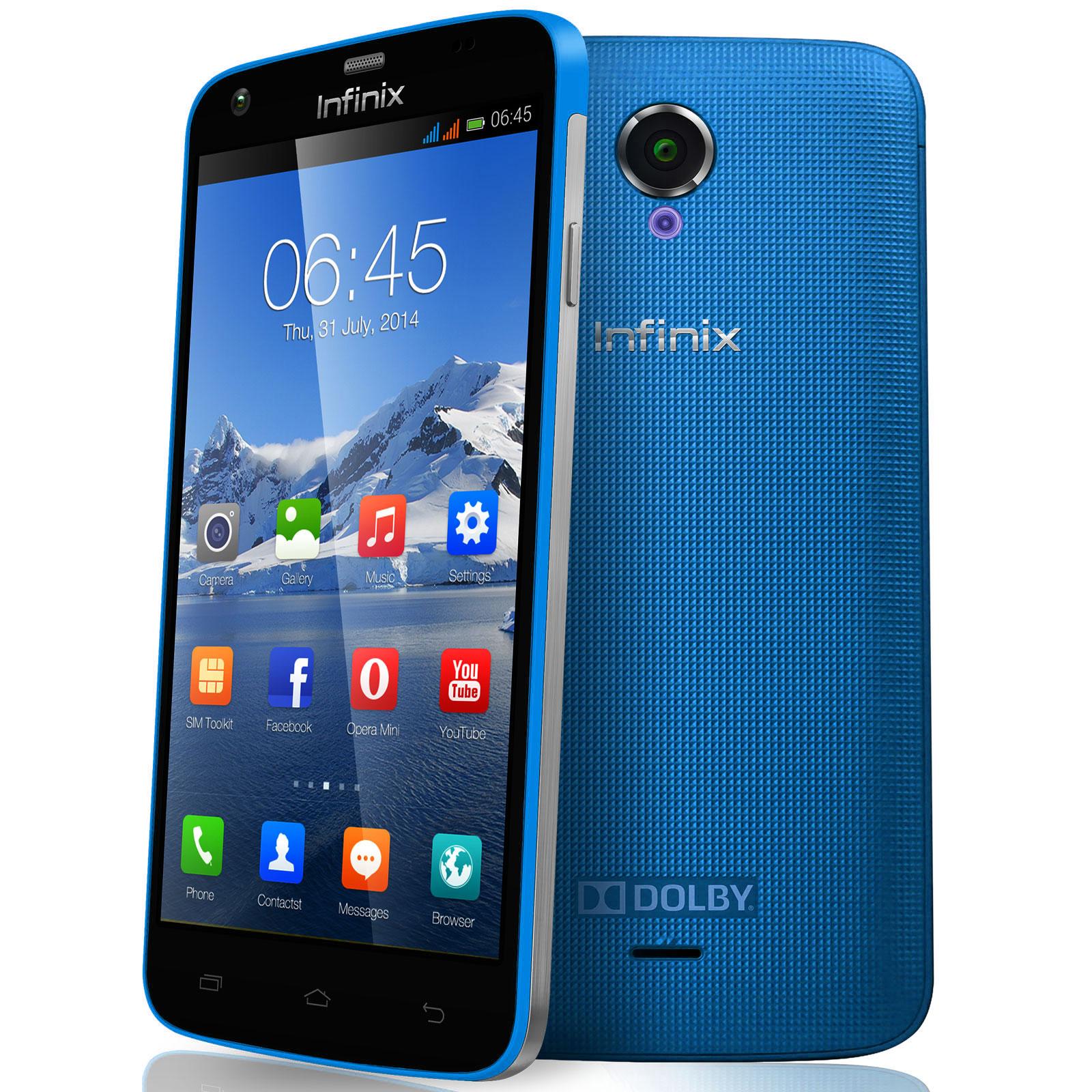 """Mobile & smartphone Infinix Race Jet X505 Bleu Smartphone 4G-LTE avec écran tactile 5"""" sous Android 4.4"""