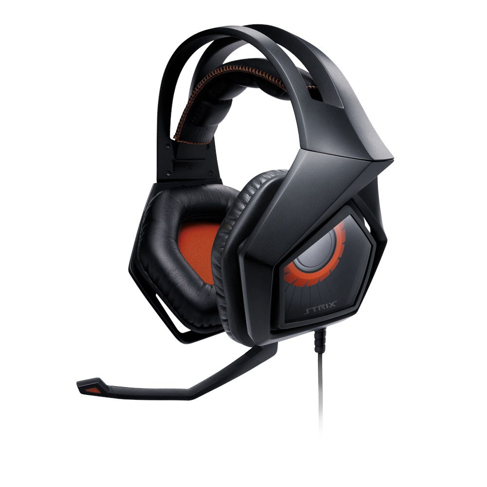 Micro-casque ASUS Strix DSP Casque-micro à réduction active de bruit pour gamer (compatible PC / Mac / PS4)