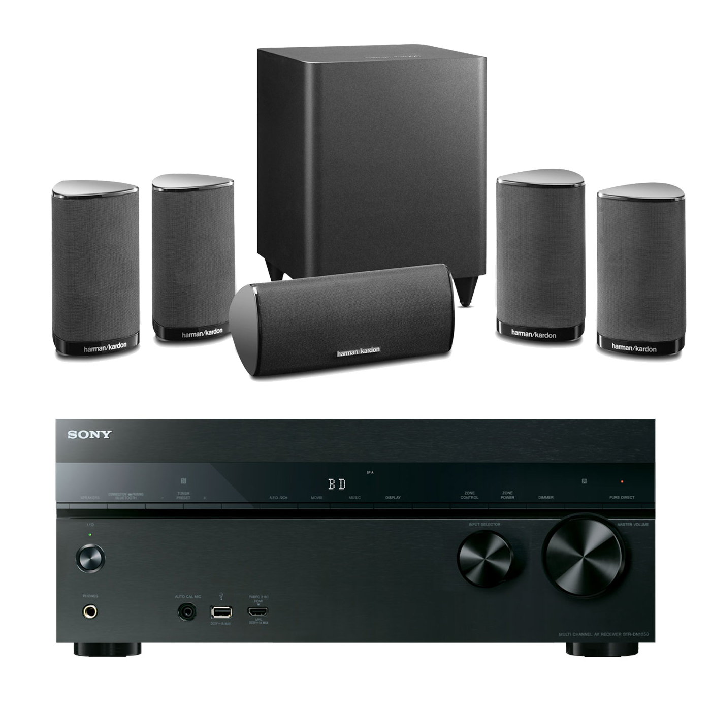 Sony str dn1050 harman kardon hkts 5 noir ensemble - Meuble pour ampli home cinema ...