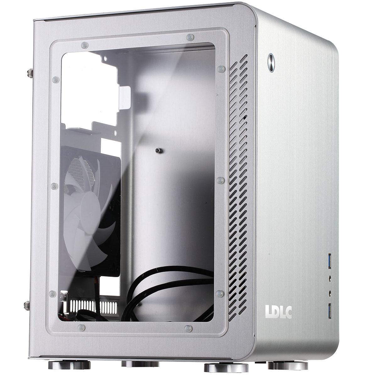 Boîtier PC LDLC IT-2-SW Argent Boîtier Mini-ITX aluminium avec fenêtre