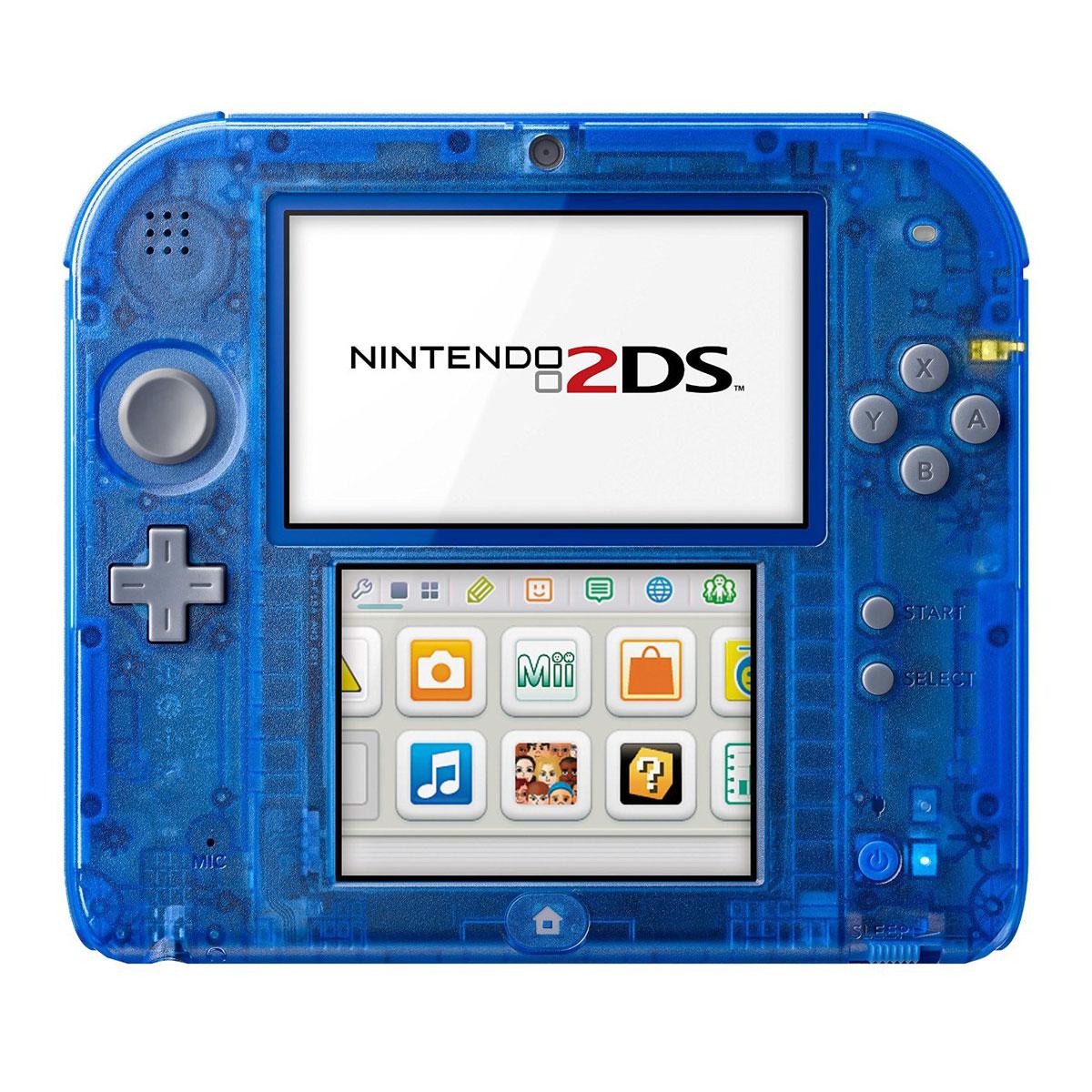 Nintendo 2ds bleu transparent console nintendo 3ds nintendo sur ldlc - Console 3ds xl blanche avec mario kart 7 ...