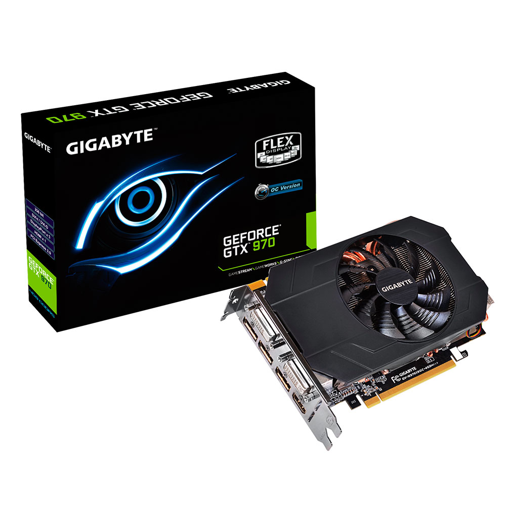 Carte graphique Gigabyte GV-N970IXOC-4GD - GeForce GTX 970 4 GB 4096 Mo Dual DVI/HDMI/Tri DisplayPort - PCI Express (NVIDIA GeForce avec CUDA GTX 970)