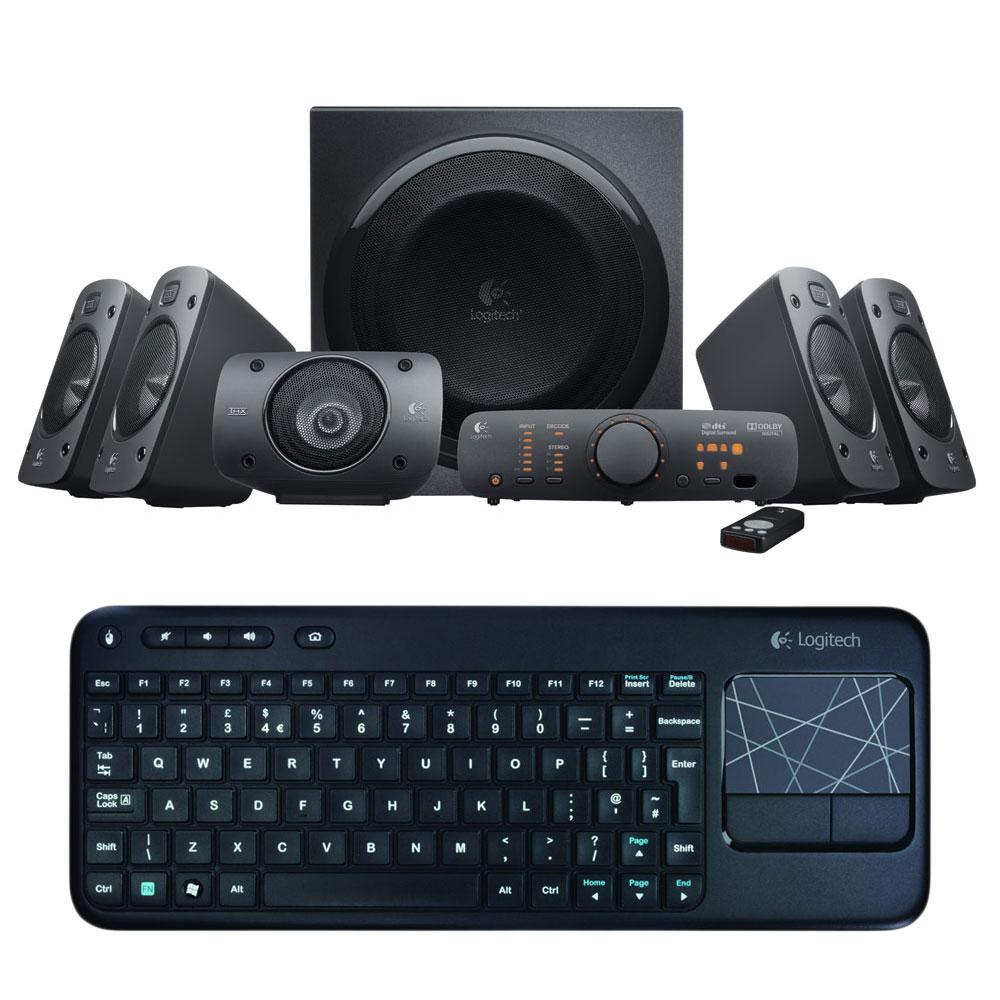 logitech speaker z906 k400 achat vente enceinte pc. Black Bedroom Furniture Sets. Home Design Ideas