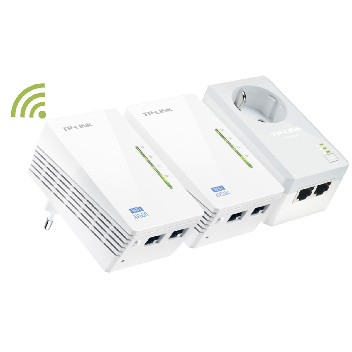 CPL TP-LINK TL-WPA4226T KIT Adaptateur CPL 500 Mbps + 2 adaptateurs CPL Wi-Fi N 300 Mbps 2 ports