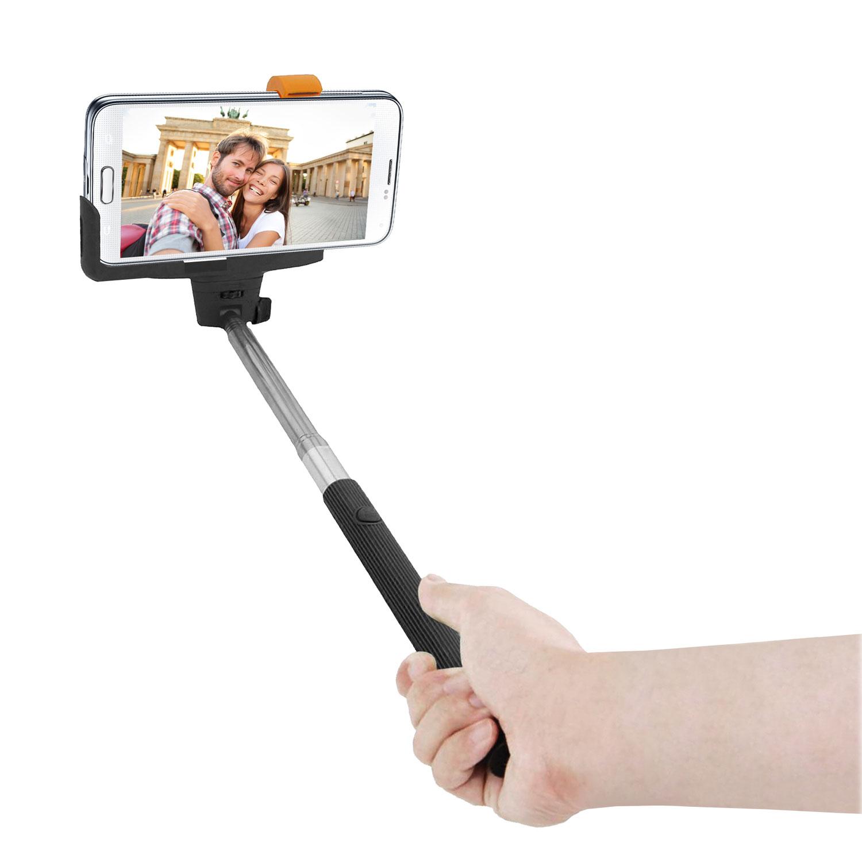innovatec canne selfie bluetooth noire gadget. Black Bedroom Furniture Sets. Home Design Ideas