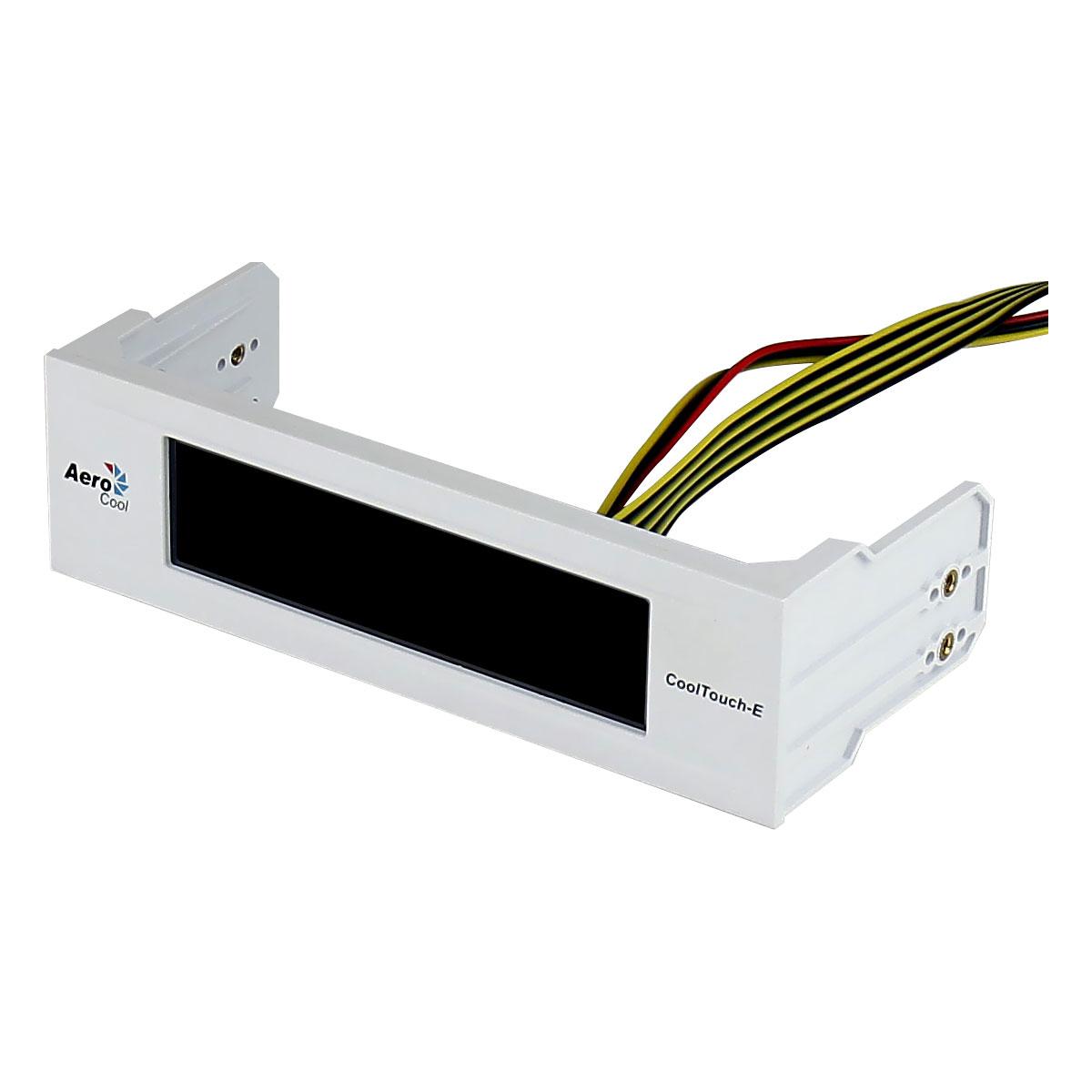 Rhéobus Aerocool CoolTouch-E Blanc Rhéobus à écran LCD tactile pour 4 ventilateurs et 7 couleurs interchangeables