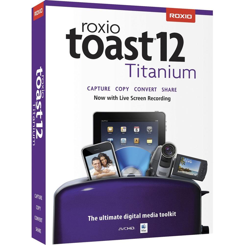 Logiciel gravure Corel Roxio Toast 12 Titanium  Logiciel d'outils multimédia et de gravure (français, Mac OS)