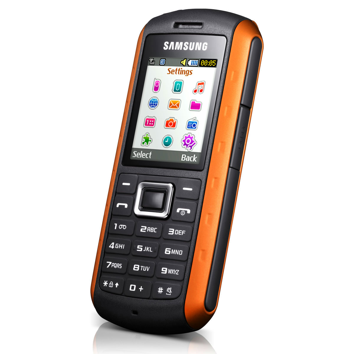 samsung solid gt b2100i noir orange mobile smartphone. Black Bedroom Furniture Sets. Home Design Ideas