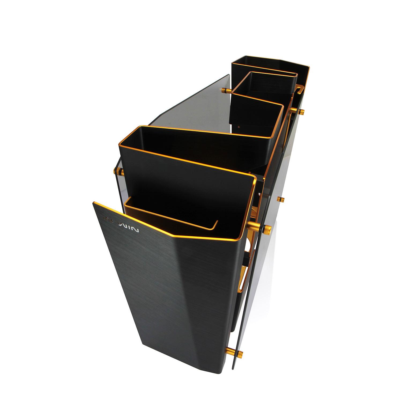 In win s frame gold black bo tier pc in win sur ldlc for Boitier pc de salon