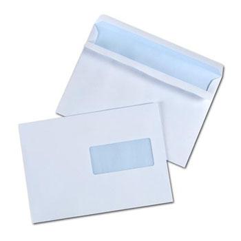 Boite de 500 enveloppes c5 autocollantes 80g fen tre for Enveloppe avec fenetre