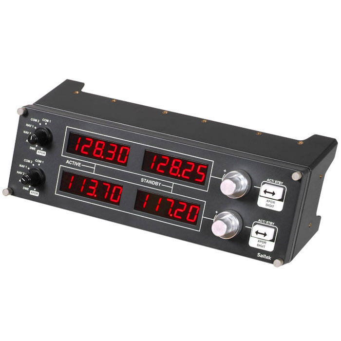 Joystick Saitek Pro Flight Radio Panel Afficheur de fréquences radio pour simulateur de vol