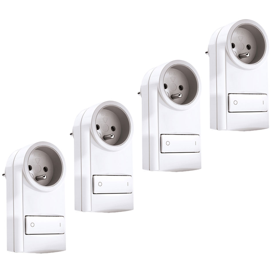 schneider electric wiser pack de 4 prises pilot es accessoires schneider electric sur ldlc. Black Bedroom Furniture Sets. Home Design Ideas