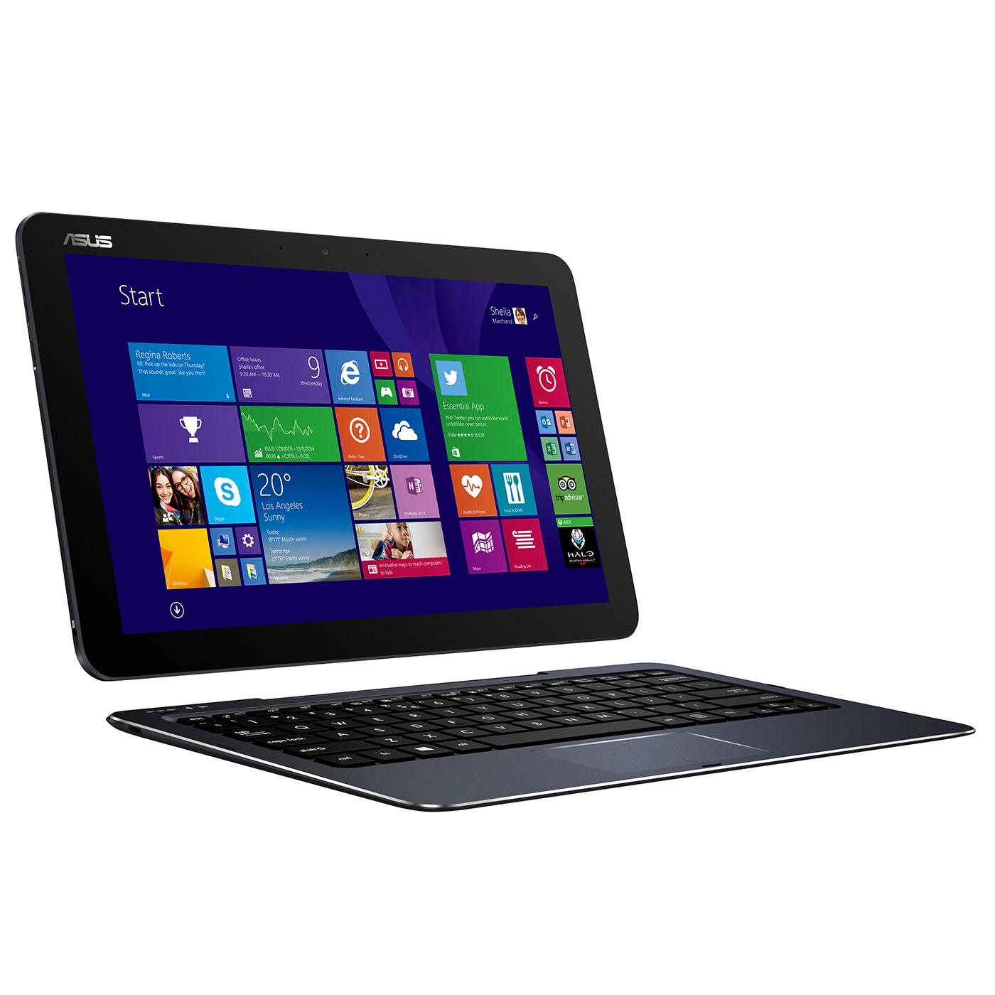 """PC portable ASUS Transformer Book T300 Chi-FH011P Intel Core M-5Y71 8 Go SSD 128 Go 12.5"""" LED QHD Tactile Wi-Fi N/Bluetooth Webcam Windows 8.1 Pro 64 bits (garantie constructeur 2 ans)"""