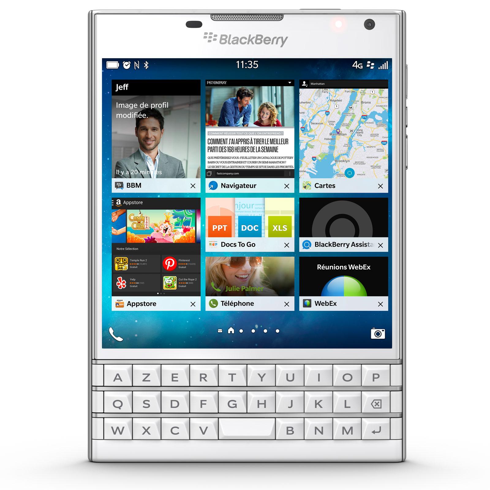 blackberry passport azerty blanc mobile smartphone. Black Bedroom Furniture Sets. Home Design Ideas