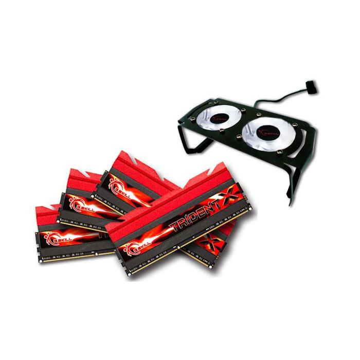 Mémoire PC G.Skill Trident X Series 16 Go (4x 4Go) DDR3 2666 MHz CL11 Kit Quad Channel DDR3 PC3-21300 - F3-2666C11Q-16GTXD + ventilateurs (garantie à vie par G.Skill)