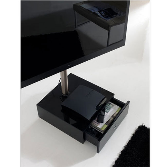Gisan fs205ne noir meuble tv gisan sur ldlc for Meuble mural gisan