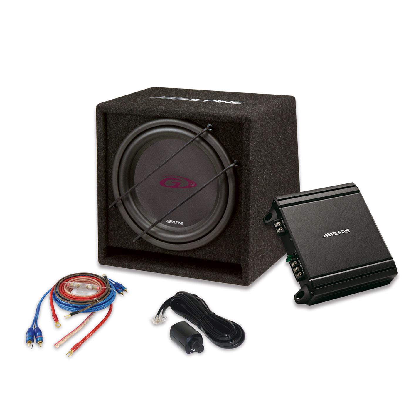 Amplificateur auto Alpine SBG-30KIT Subwoofer 30 cm + amplificateur numérique mono 550 W