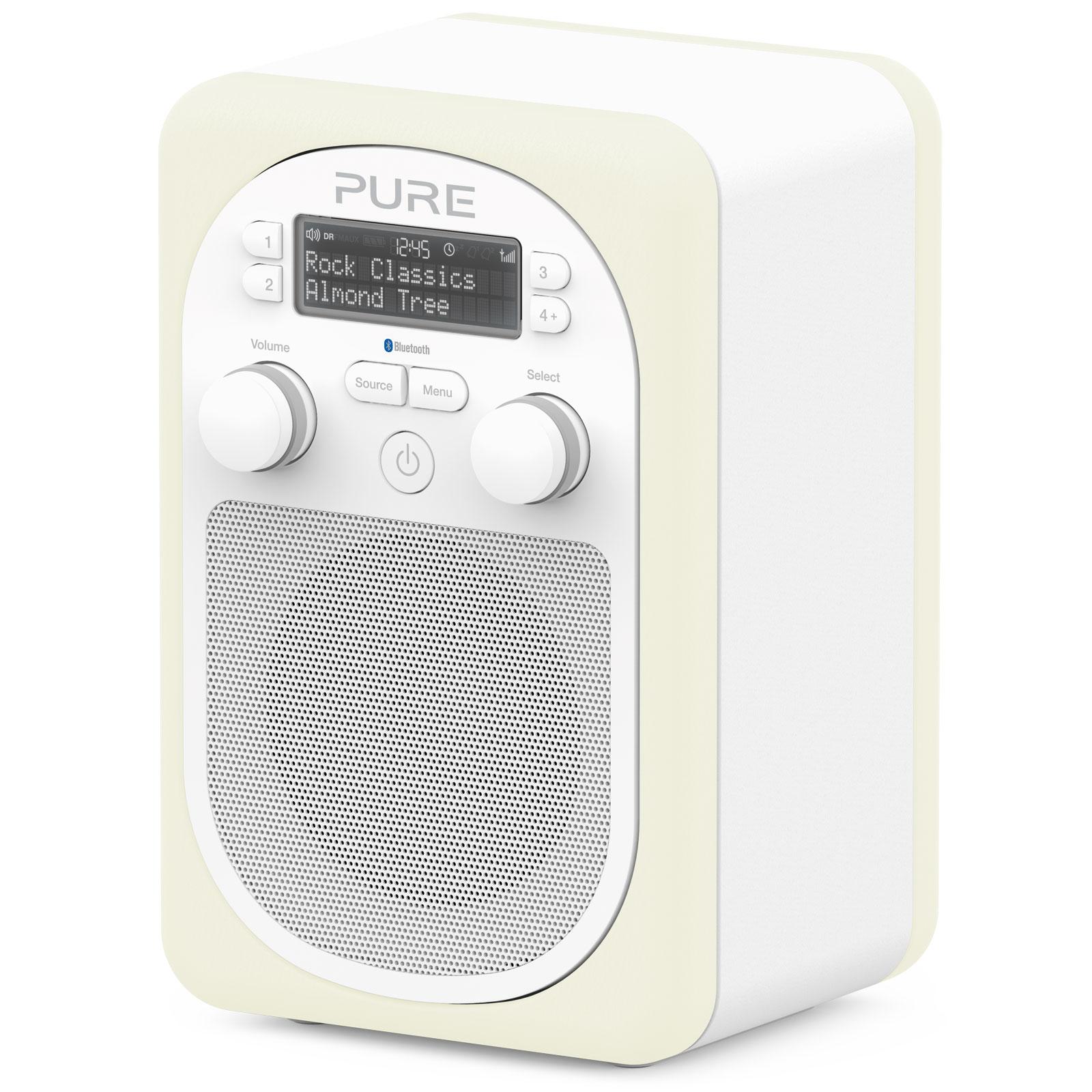 Pure evoke d2 mio bluetooth almond radio radio r veil for Radio numerique portable