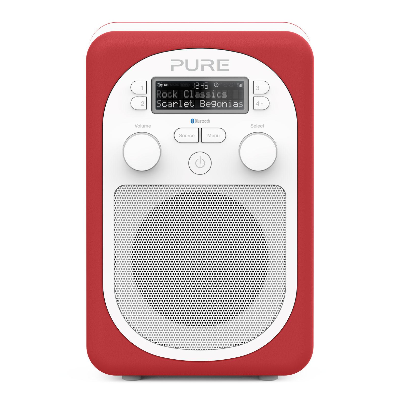 Pure evoke d2 mio bluetooth scarlet radio radio r veil for Radio numerique portable