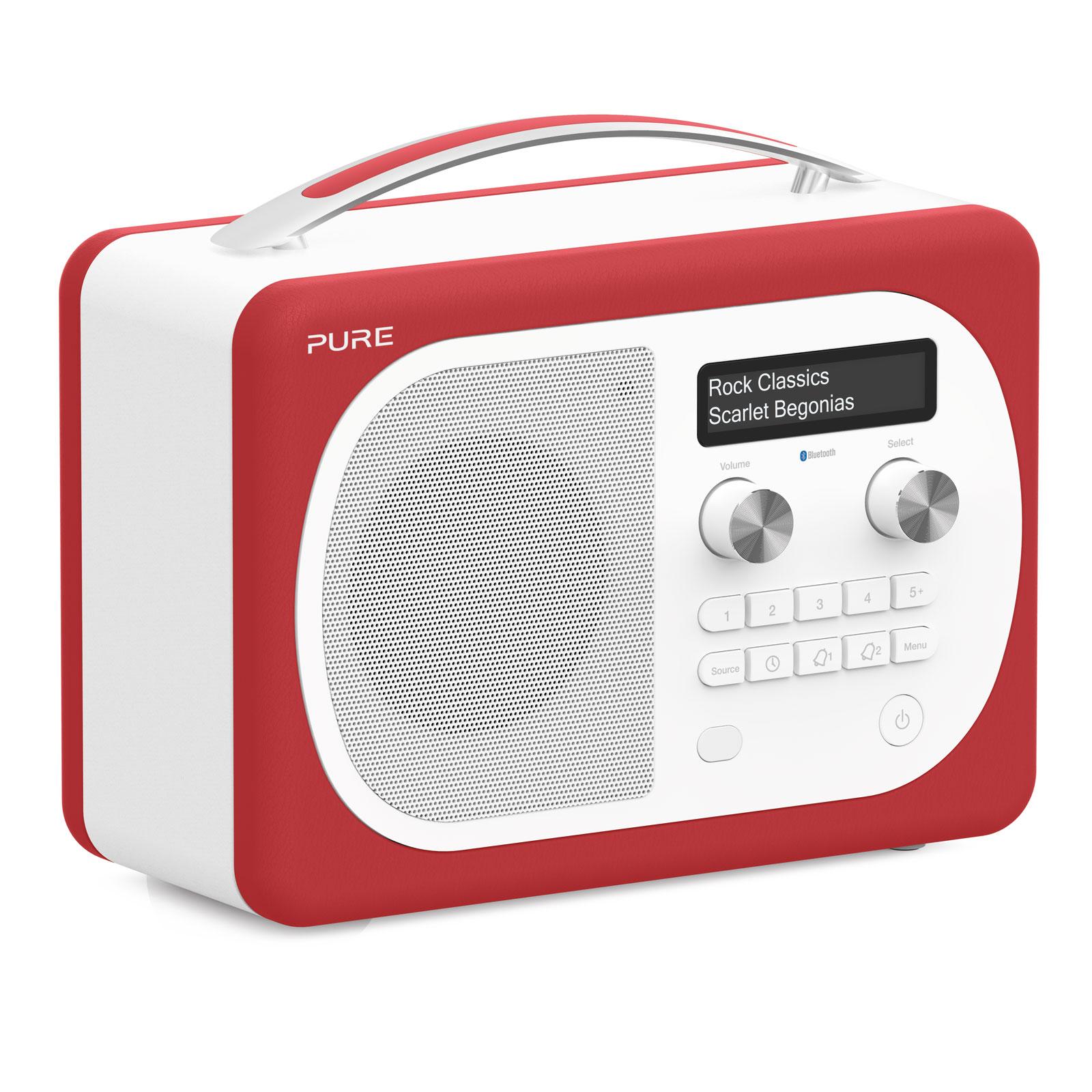 Pure evoke d4 mio bluetooth scarlet radio radio r veil for Radio numerique portable