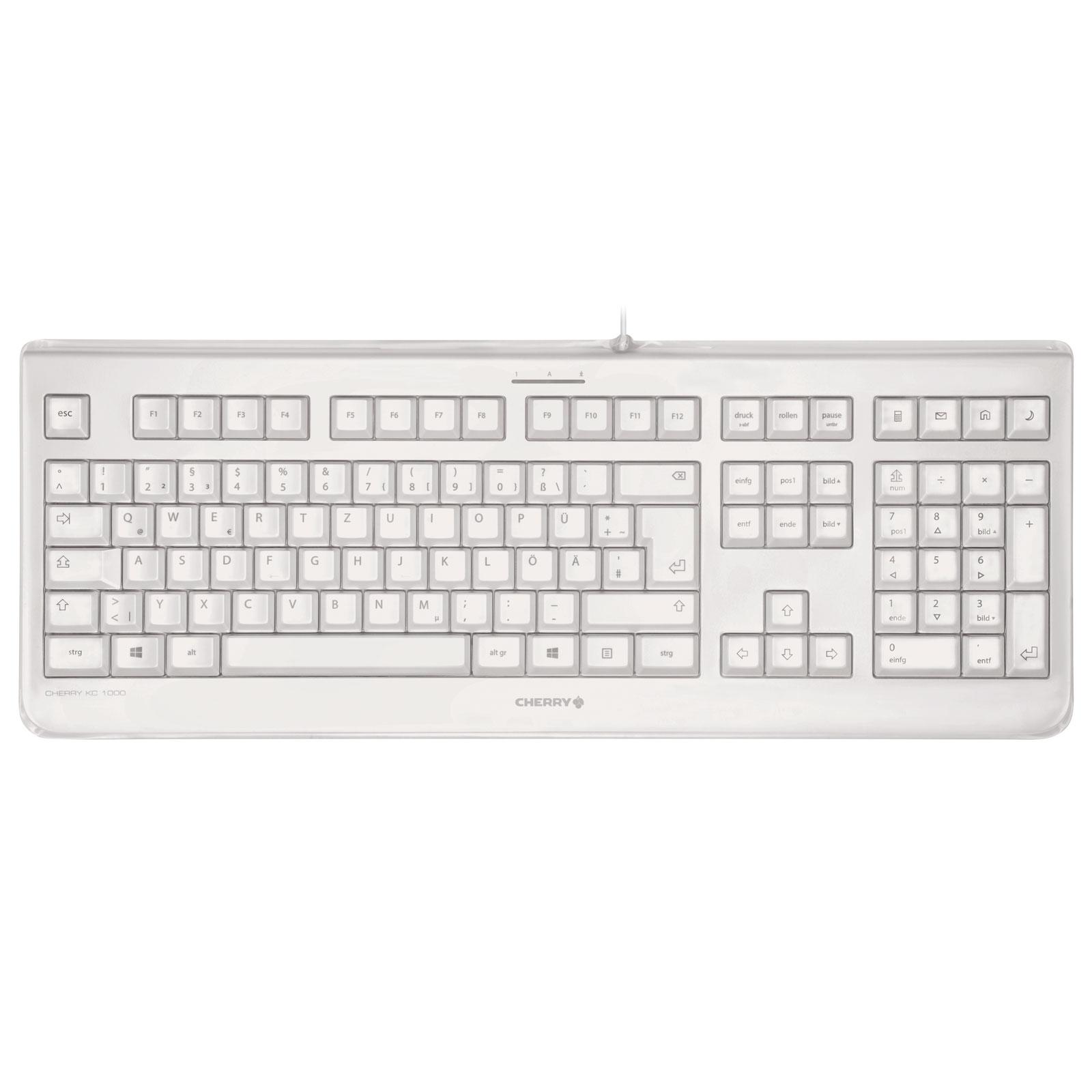 cherry kc 1068 blanc clavier pc cherry sur ldlc. Black Bedroom Furniture Sets. Home Design Ideas