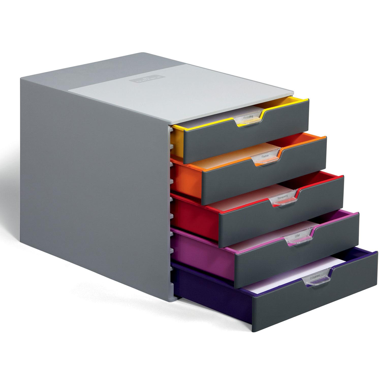 durable module de classement varicolor 5 tiroirs 7605 27 module de classement durable sur ldlc. Black Bedroom Furniture Sets. Home Design Ideas