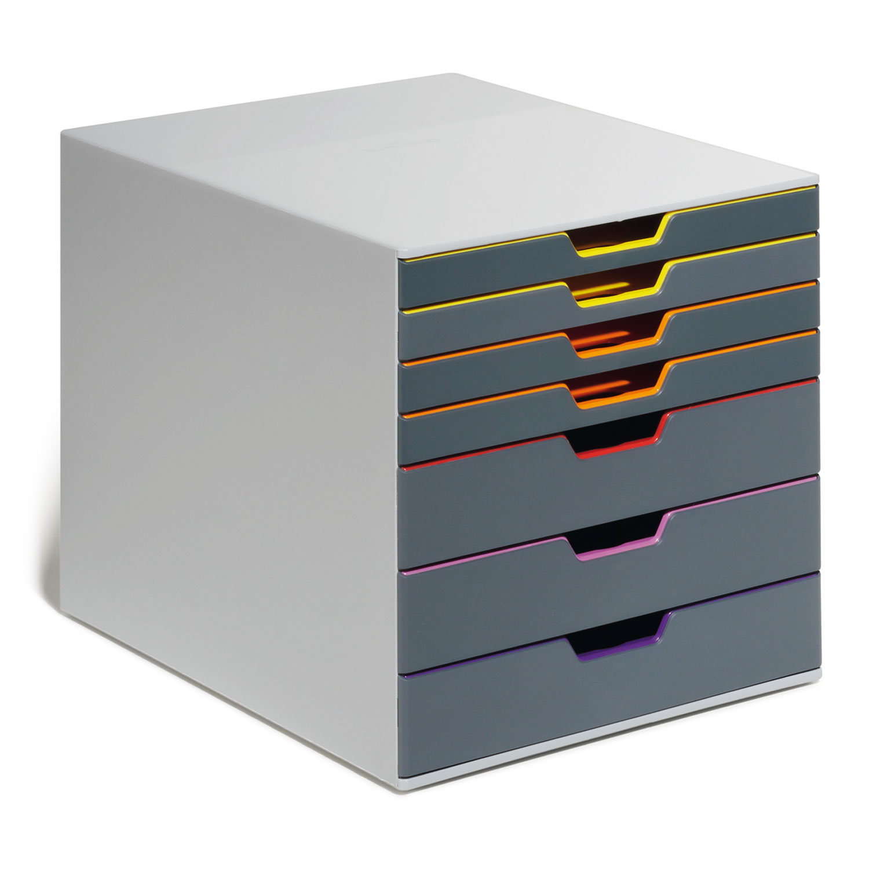 durable module de classement varicolor 7 tiroirs 7607 27 7607 27 achat vente module de. Black Bedroom Furniture Sets. Home Design Ideas