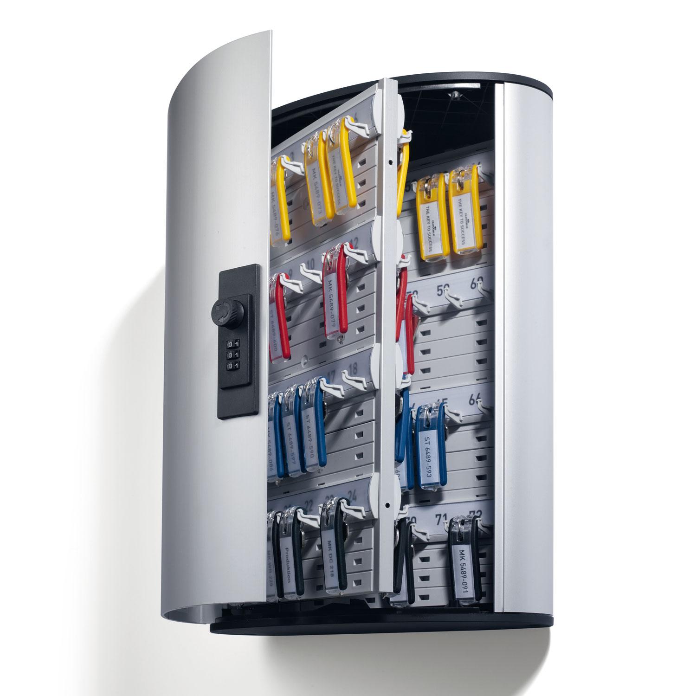 durable armoire cl s keybox fermeture code pour 72 porte cl s coffre et armoire durable. Black Bedroom Furniture Sets. Home Design Ideas