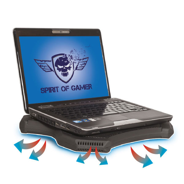 spirit of gamer airblade ventilateur pc portable spirit. Black Bedroom Furniture Sets. Home Design Ideas