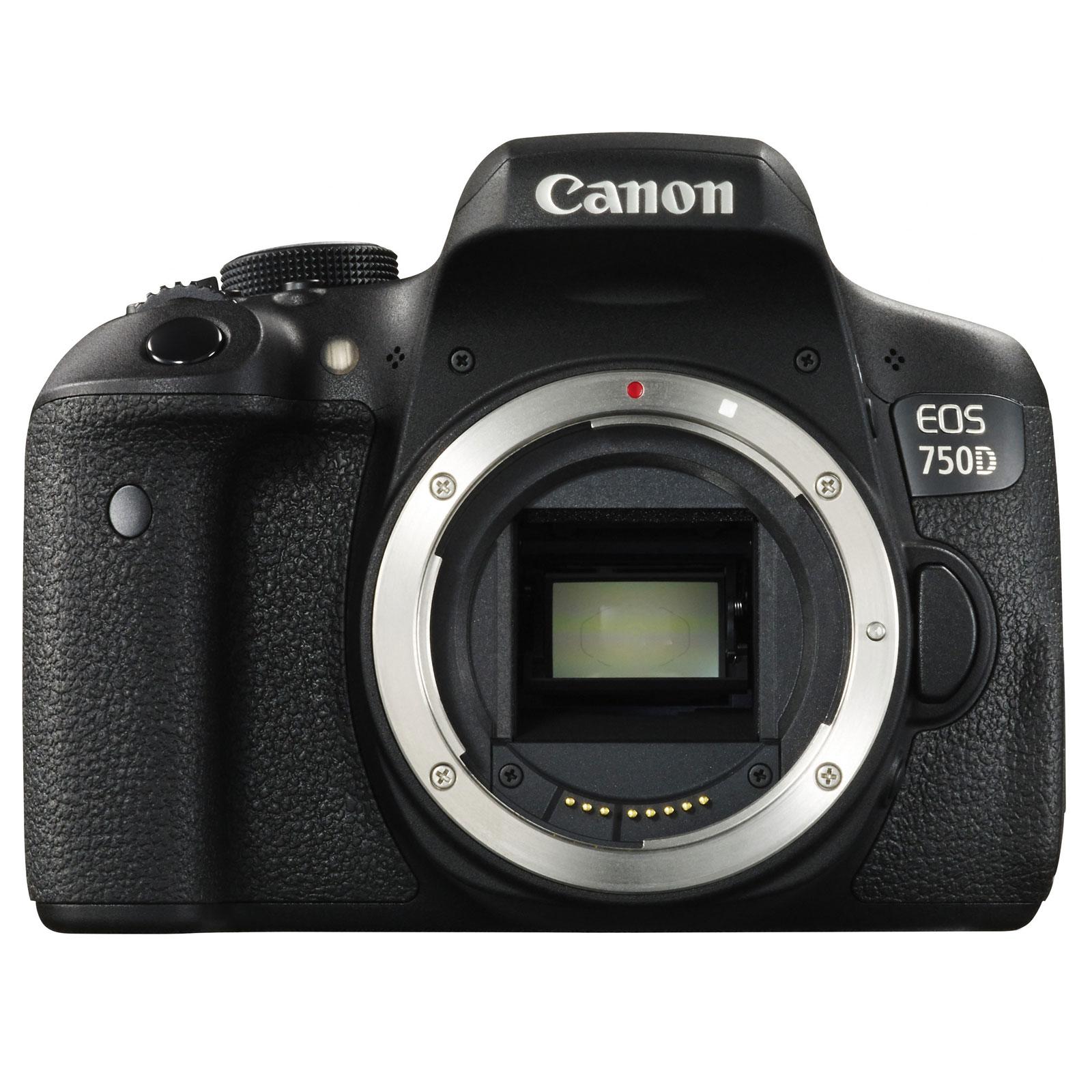 "Appareil photo Reflex Canon EOS 750D Reflex Numérique 24.2 MP - Ecran tactile 3"" - Vidéo Full HD - Wi-Fi - NFC (boîtier nu)"