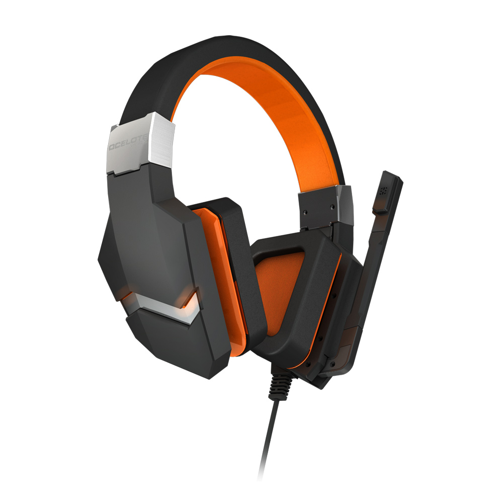 Micro-casque Ozone Blast (Ocelote World Edition) Casque gaming - circum-aural fermé - son Virtual Surround 7.1 - microphone omnidirectionnel - commande de contrôle intégrée - pliable - USB - compatible PC et PlayStation 4